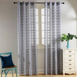Window Sheer Curtains Panel, Palm Bay