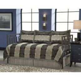 Twin-size 5-Piece Daybed Ensemble with Comforter Bed Skirt and 3 Shams
